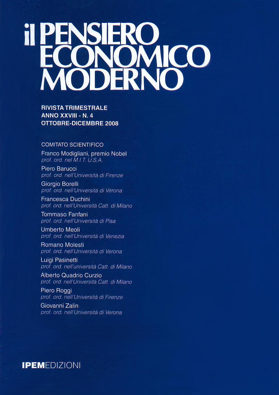 Il Pensiro Economico  Moderno