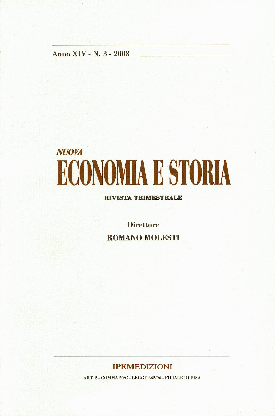 Nuova Economia e Storia